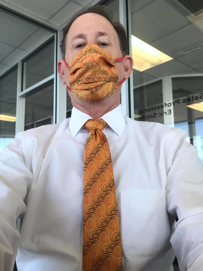 This Dad Is Going (Anti)Viral For Matching His Face Masks With Ties Every Day