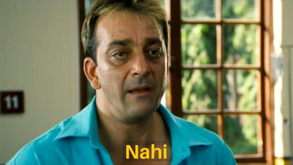 Nahi – Sanjay Dutt Meme Template