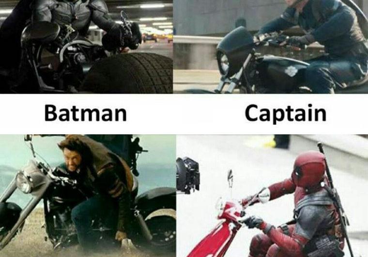 Movie Deadpool Bike Funny Meme
