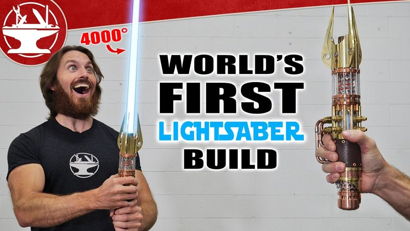 YouTuber Builds Real-Life Retractable Lightsaber Out Of 4000° Plasma Torch