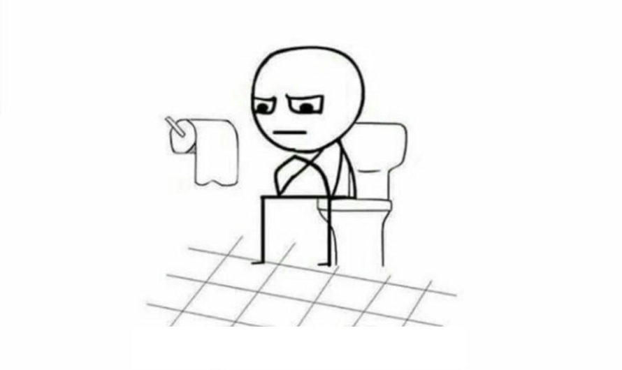 Went Toilet without Phone Funny Meme