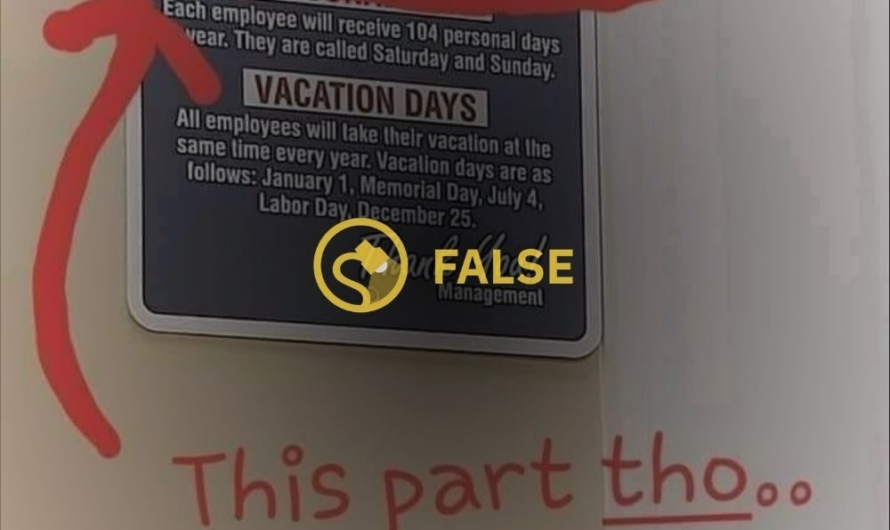 Is This 'Company Policies' Sign Real?