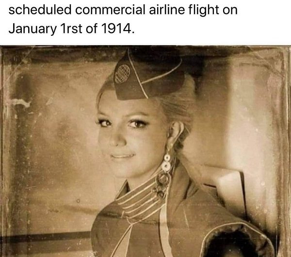 Is This a Photo of the First Flight Attendant in 1914?