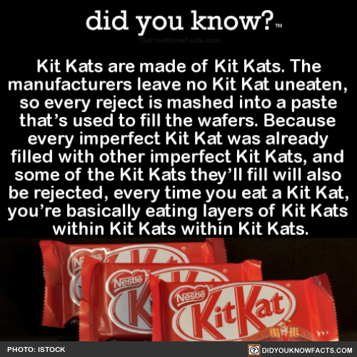 Package Kats are made of Kit Kats.The manufacturers leave no Kit Kat …